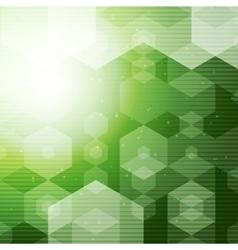 Abstract polygonal space green hexagonal vector