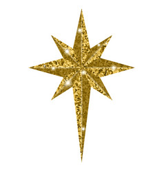 Bethlehem christmas golden star isolated on white vector