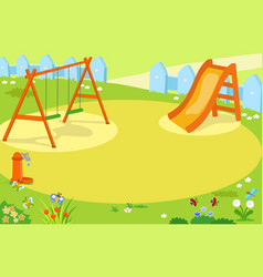 Cartoon empty playground vector