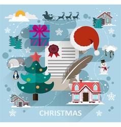 Christmas scene flat style vector