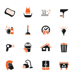 cleaning company icon set vector image vector image