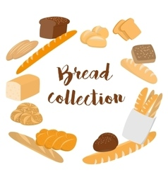 Different kinds of bread set for cafe menu vector image vector image
