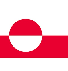 Flag of greenland vector