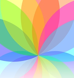 Flower abstract multicolored background vector