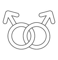Gay love sign icon outline style vector