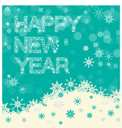 Happy New Year Title - Snowflakes Slogan on Winter vector image vector image