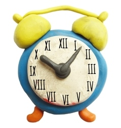 Icon of plasticine alarm clock vector image vector image