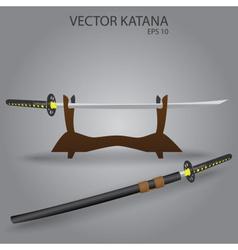 Katana sword stand eps10 vector