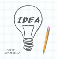 light bulb icon with concept of idea vector image
