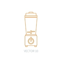 Line flat kitchenware equipment icons vector image