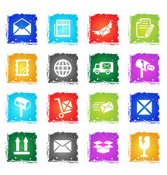 post service icon set vector image vector image