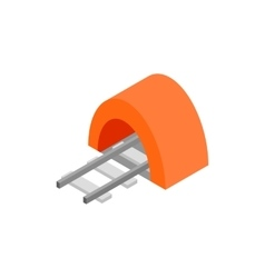 Railway tunnel isometric 3d icon vector