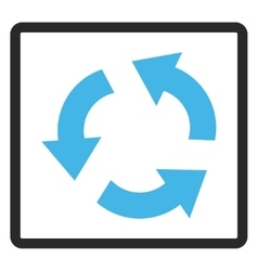 Recycle framed icon vector