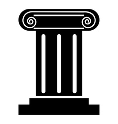 Roman column icon simple style vector