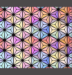 seamless abstract stained-glass window with vector image vector image