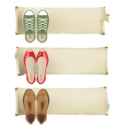 shoes banners vector image vector image
