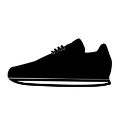 Sport shoes the black color icon vector