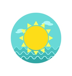 Sun icon Summer Vacation vector image