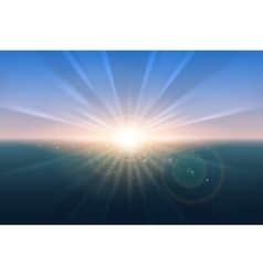 Sunrise glow background vector image vector image