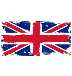 Threadbare flag of Great Britain vector image vector image