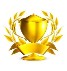 Trophy gold vector image