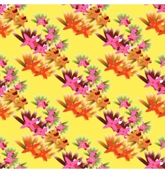 tropical seamless background vector image