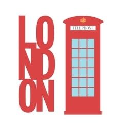 United kingdom telephone box london public call vector