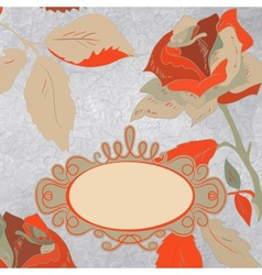 Vintage rose floral card vector image