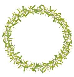 Wreath with mistletoe vector