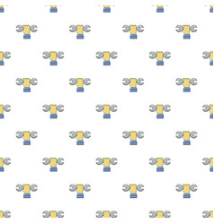 Wrench in hand pattern seamless vector