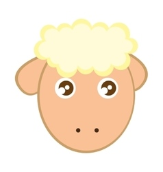 Sheep cute character little vector