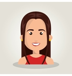 Cartoon woman female isolated vector