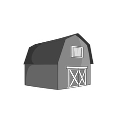 Barn for animals icon black monochrome style vector