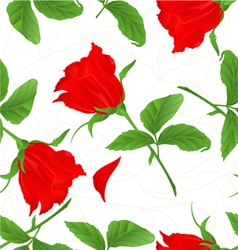Seamless texture rosebud red rose twig vector