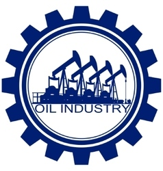 The icon with the oil pump vector image
