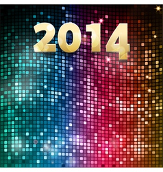 2014 mosaic party background vector image vector image