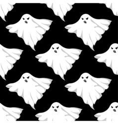 Danger ghosts seamless pattern vector