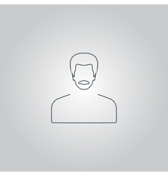 Man with mustache icon vector
