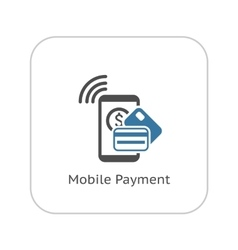 Mobile payment icon flat design vector