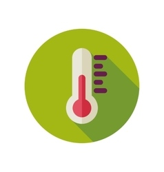 Thermometer flat icon meteorology weather vector