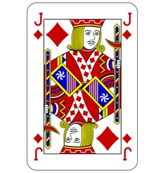 Poker playing card jack diamond vector