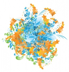 abstract painting vector image vector image