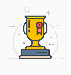 award trophy vector image vector image