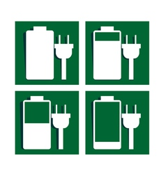 Battery charging sign icon vector image vector image