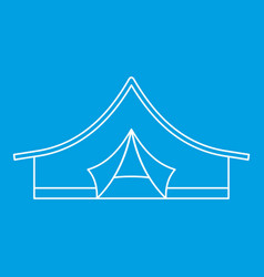 Camping tent icon outline style vector