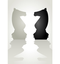 Chess Knight vector image vector image