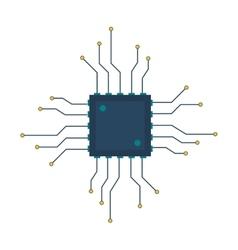 cpu circuit board icon vector image