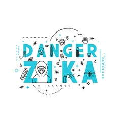 Design concept epidemic of danger zika vector