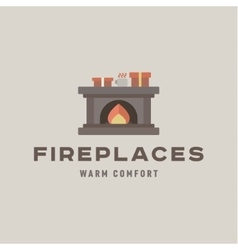 Fireplaces into a flat silje gifts and flame vector