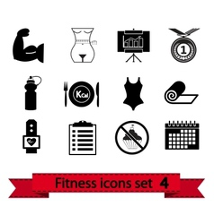 Fitness icon 4 vector
